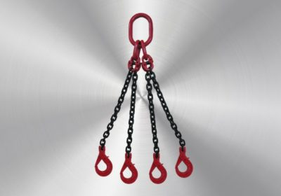 4-leg 8mm with fork safety hooks 3,5m