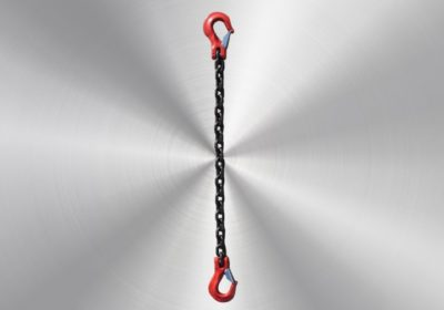Lashing chain 6mm with fork hooks with valve 1,5m